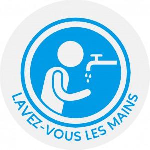 """stickers """"lavez-vous les mains""""ronds"""