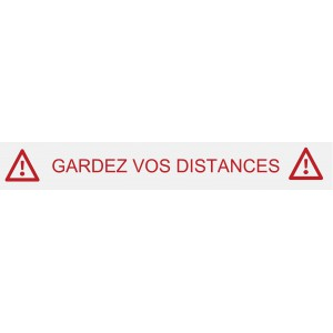 "Stickers ""gardez vos distances"""