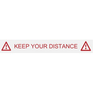 "Stickers ""keep your distance"""